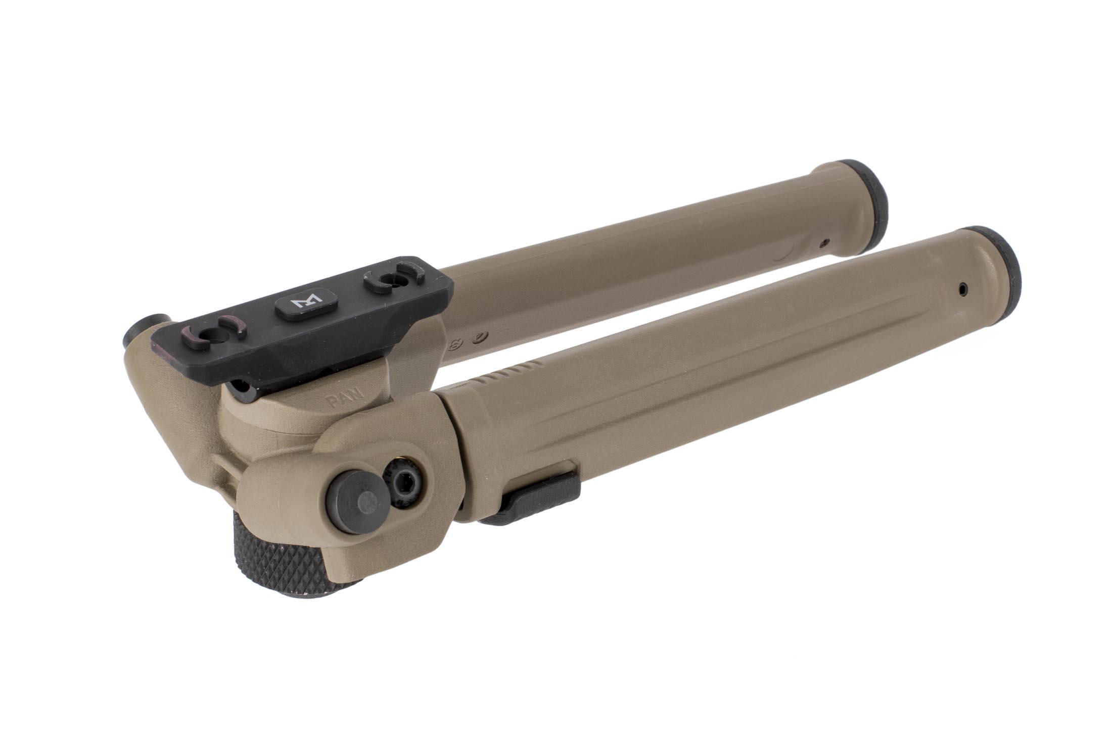 Magpul M-LOK bipods feature legs that can be folded 180-degrees for optimal stowage positions and ideal leg positions