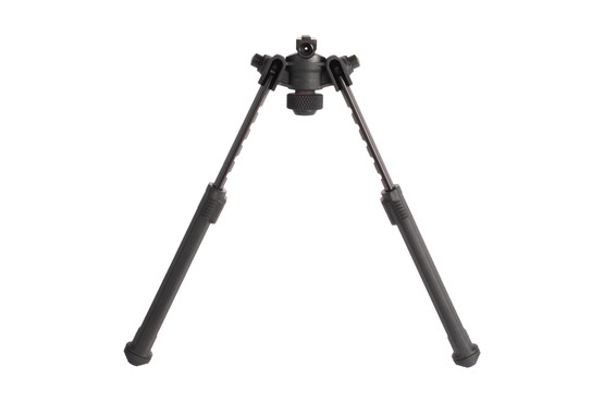 Magpul black M1913 bipods have adjustable pan and tilt with adjustable length legs with stepped polymer feet for stability