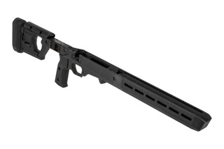The Magpul Pro 700 chassis with fixed stock is designed for Remington 700 short action rifles
