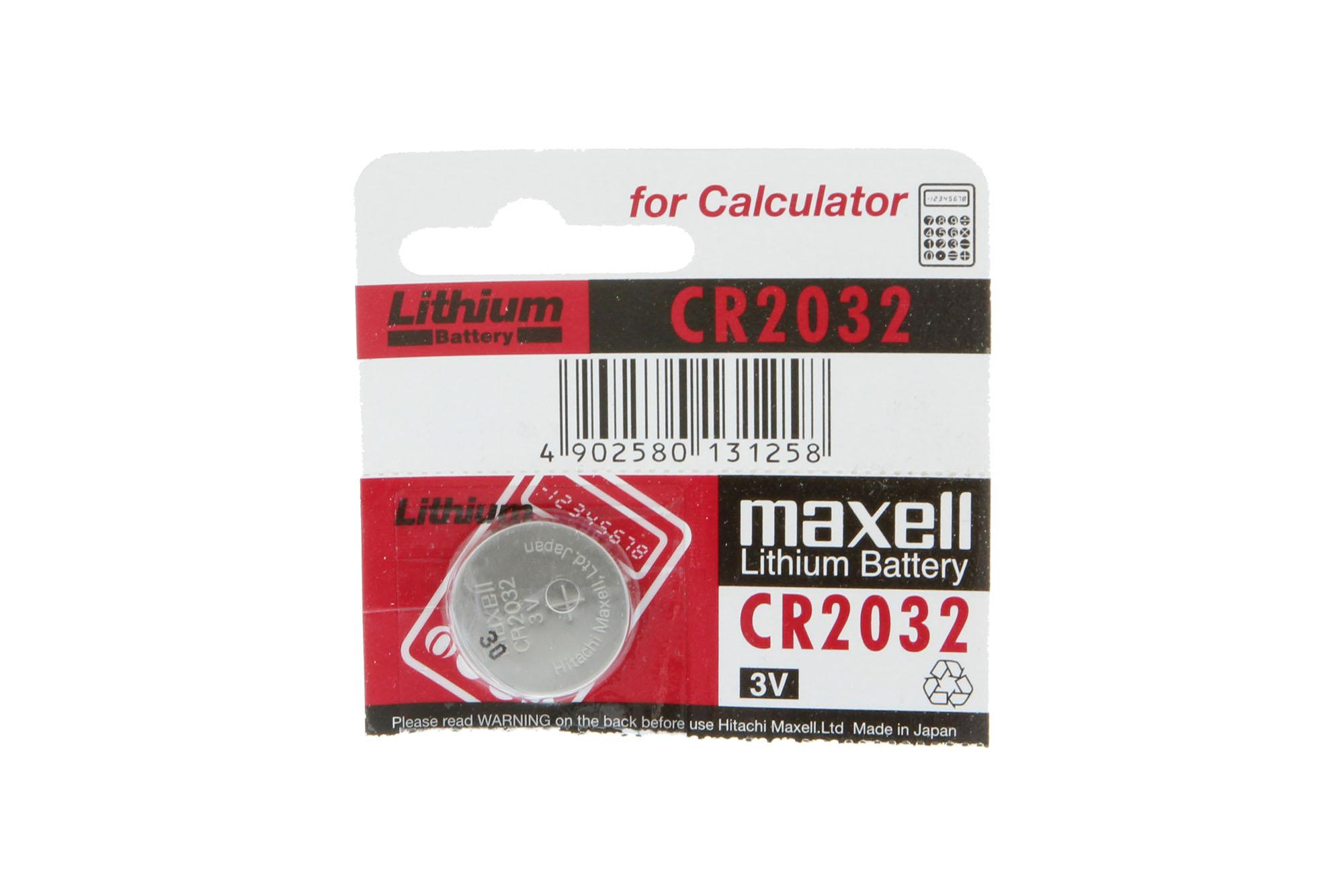 Maxell CR2032 Lithium Coin Battery - Single