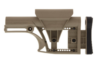 the Luth AR MBA 1 Modular Buttstock Assembly with Fixed Rifle Length buffer tube for AR-15 or AR-10 in Flat Dark Earth nylon