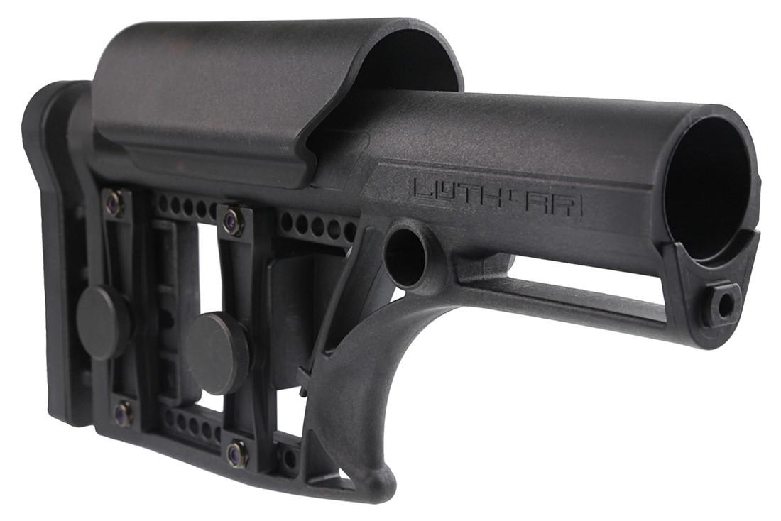 Luth AR MBA-1 Modular Buttstock Assembly - Fixed Rifle Length - AR-15 or AR-10 - Black