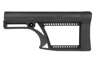 The Luth-AR Skullaton Fixed Rifle Buttstock has a skeletonized frame made from glass reinforced nylon