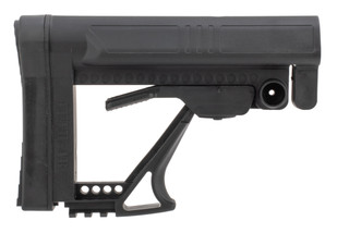 Luth-AR MBA-5 carbine buttstock assembly in black fits MIL-SPEC and Commercial Spec buffer tubes