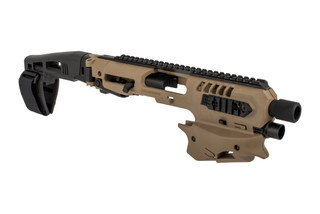 Command Arms Micro Conversion Kit for Glock 20/21 handguns includes a long stabilizer for enhanced comfort and accuracy now in FDE