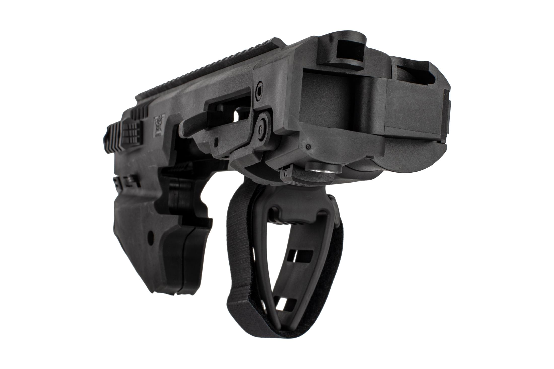 Command Arms Micro Conversion Kit for Glock 20/21s offers a side folding long stabilizer
