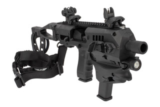 CAA Micro Advanced Conversion Kit Gen 2 black comes with polymer back up sights