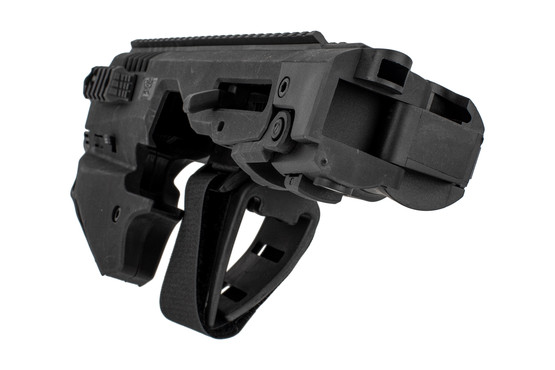 CAA micro conversion kit for Smith & Wesson M&P handguns features a full-length top rail for optics and sights