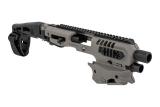 Command Arms Micro Conversion Kit for most Glock handguns includes a long stabilizer for enhanced comfort and accuracy now in gray