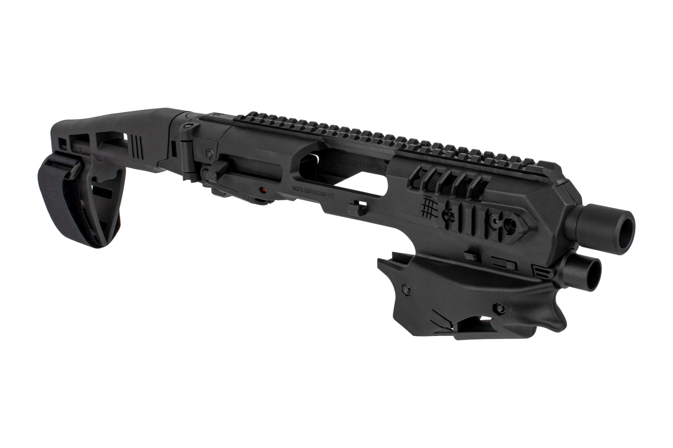 Command Arms Micro Conversion Kit for Glock handguns includes a long stabilizer for enhanced comfort and accuracy