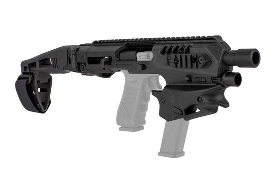 Command Arms MCK micro conversion kit fits most standard Gen 3 and Gen 4 Glock handguns with long stabilizer