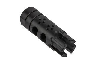 SLR Rifleworks Synergy BCF .30 Caliber muzzle brake features top ports, two chambers, and a 4-prong nose