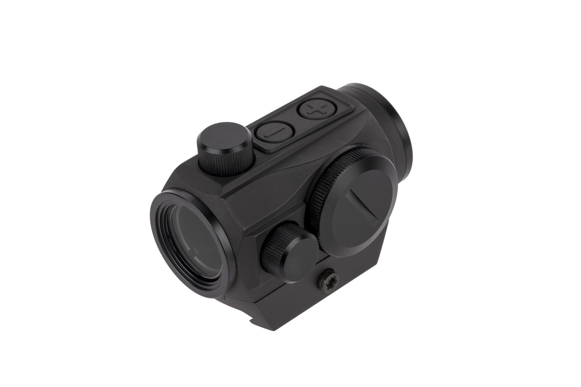 Primary Arms MD-ADS 50,000 hour red dot with 2 MOA reticle features a low-profile snag-free battery cover