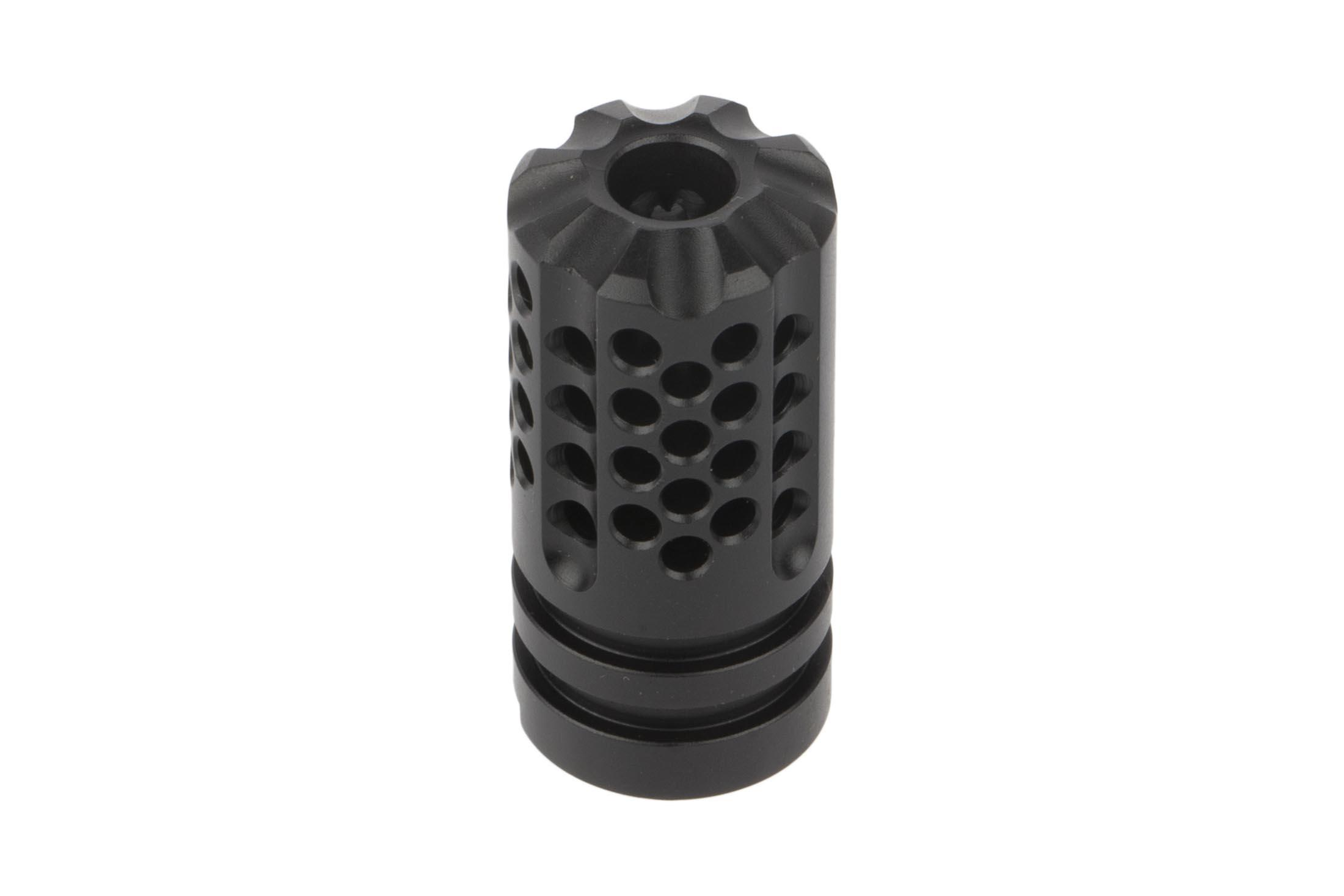 The SLR AK-47 Synergy Mini compensator has a 14x1 left hand thread pitch