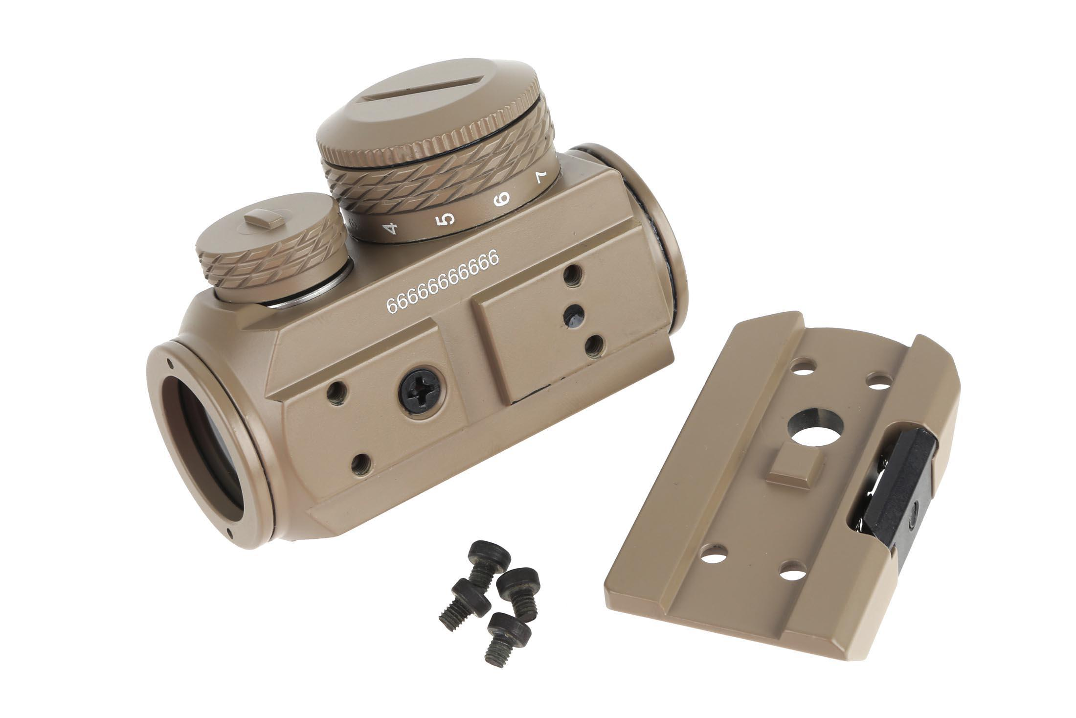 The Advanced Micro Red Dot sight from Primary Arms is has a removable picatinny base