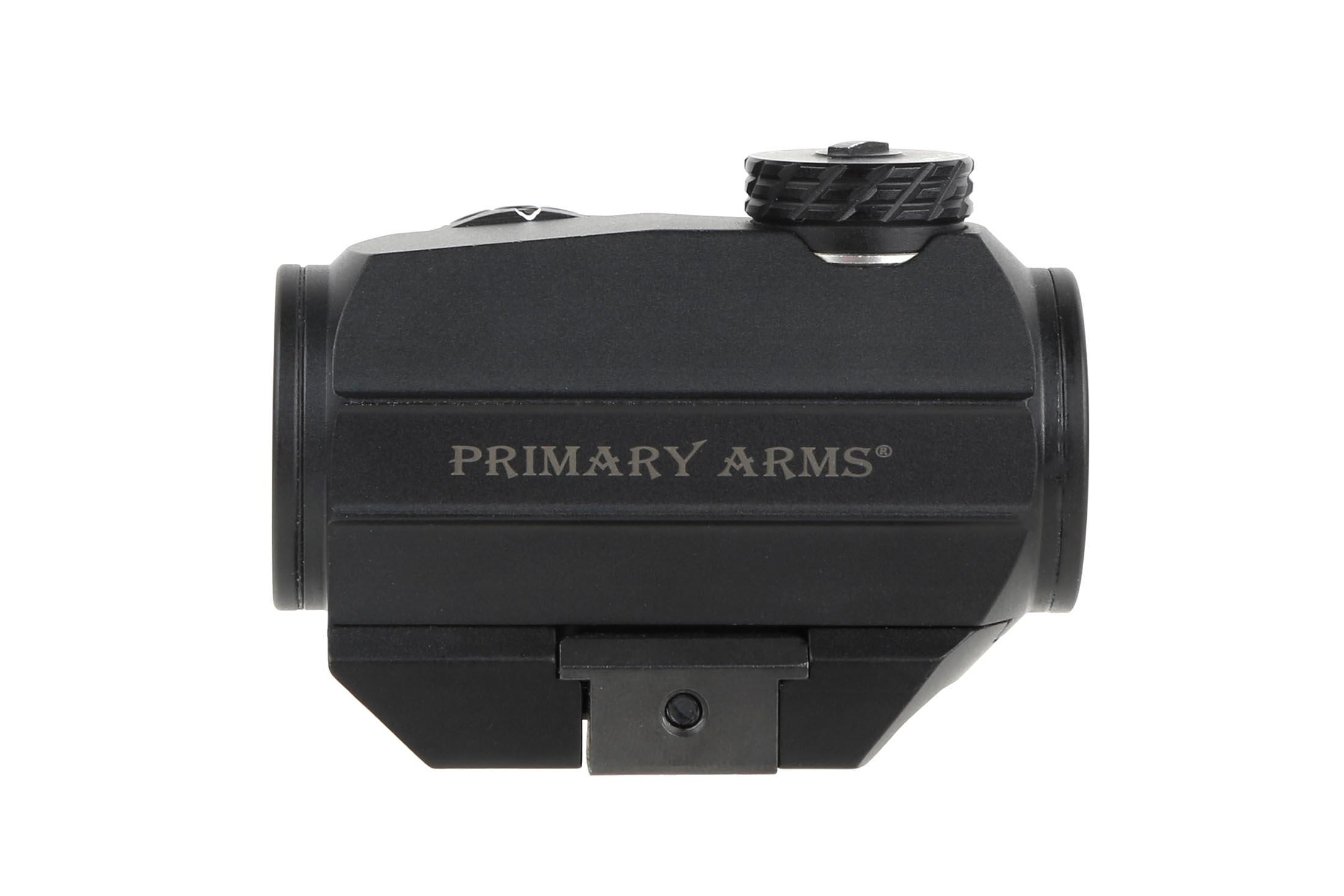 The Advanced Micro Red Dot AR-15 sight from Primary Arms features a removeable base
