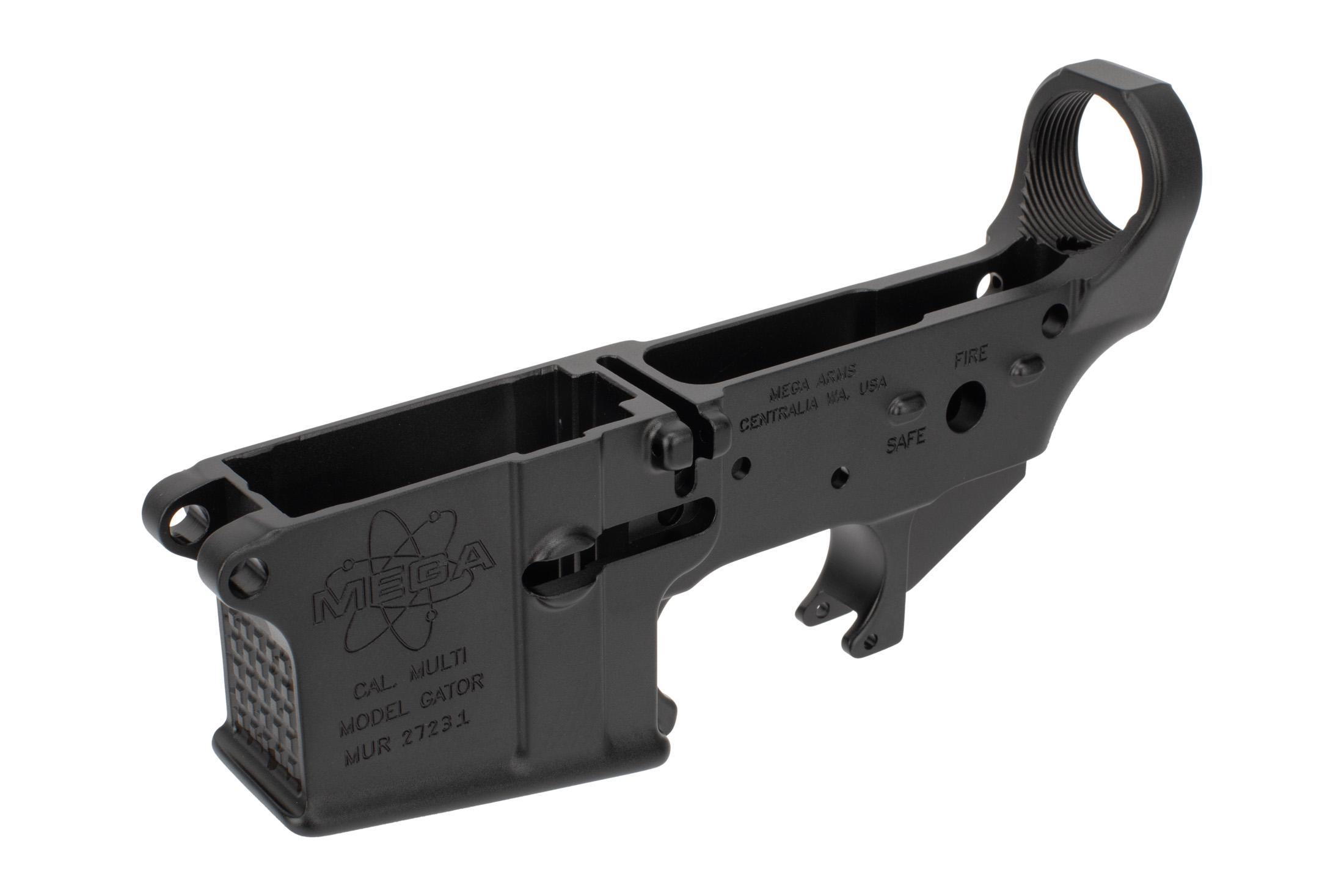 Mega Arms Stripped AR15 lower receiver is forged from 7075-T6 aluminum