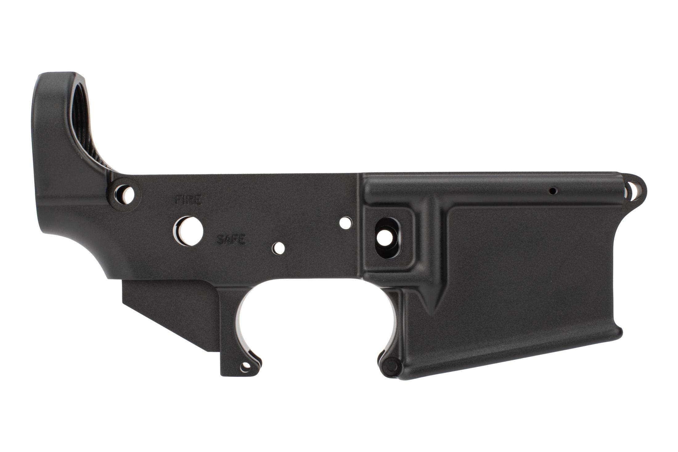 Mega Arms Forged AR15 lower receiver features a mil-spec anodized finish