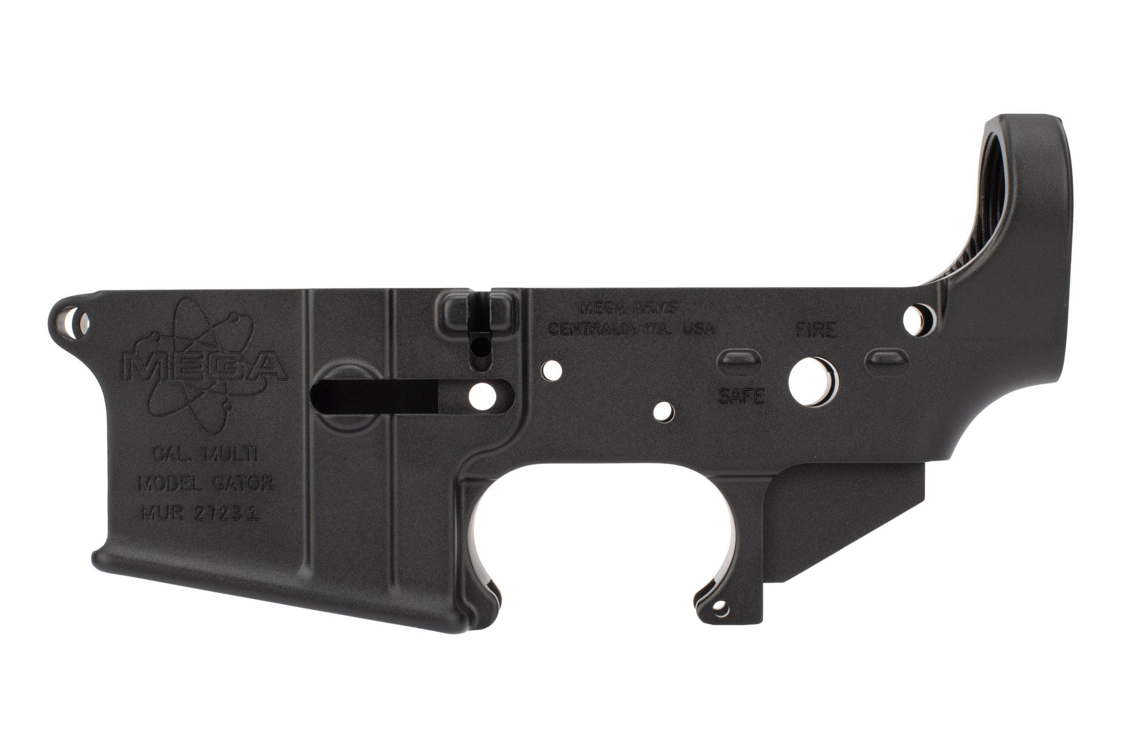 Mega Arms AR15 stripped lower receiver is machined to Mil-Spec dimensions
