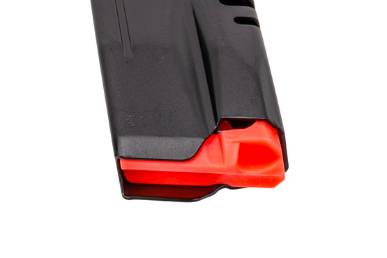 CZ USA full capacity P10 F 9mm 19-round magazine with durable finish and high reliable follower.