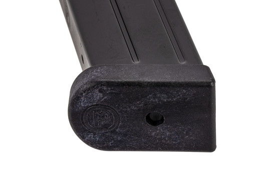 CZ USA full cap 19-round 9mm magazine for P10 F handguns with polymer base plate.