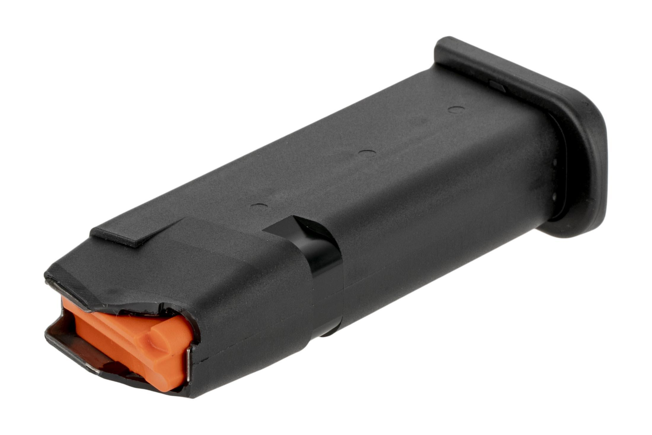 Glock 10-round OEM magazines for the G43x and G48 have 10-round capacities with a high visibility follower.
