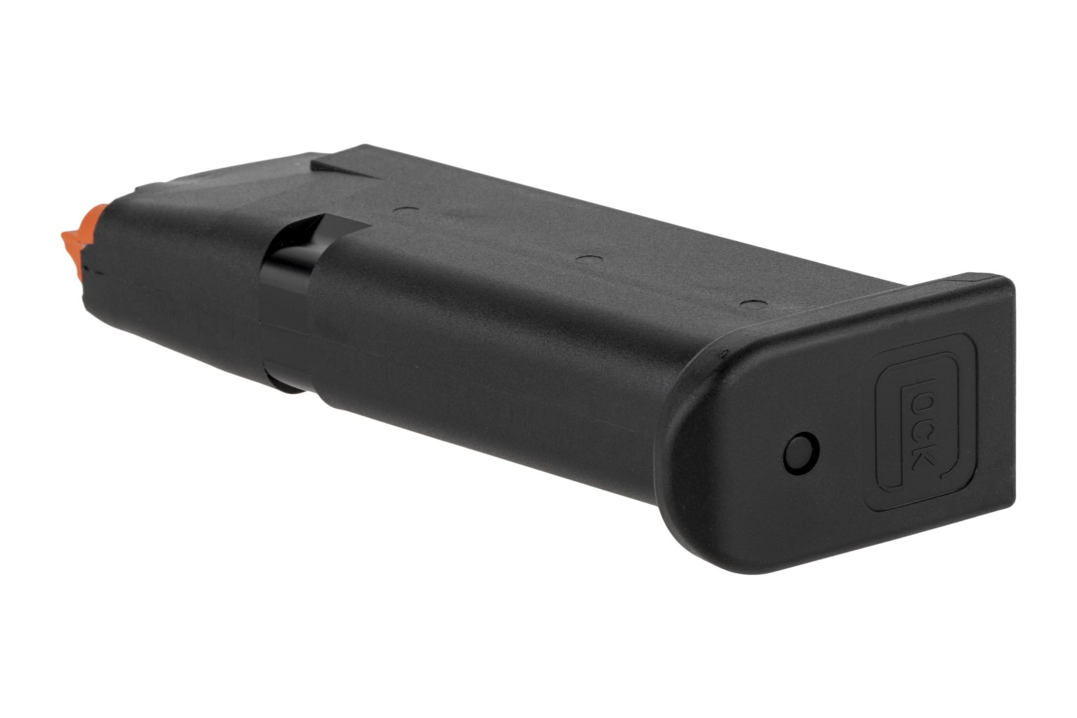 Lightweight 10-round Glock OEM G43x/G48 mags have an easy-to-disassemble base plate and hi-vis follower.