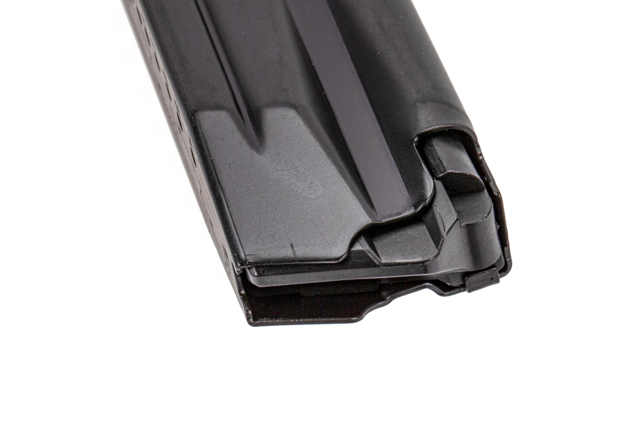 The H&K VP9SK 9mm 15 round Magazine features an easily removable polymer base plate