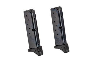 2-pack of Ruger 9-round 9mm magazine for the LC9/EC9s is a highly reliable full capacity magazine with tough steel body.