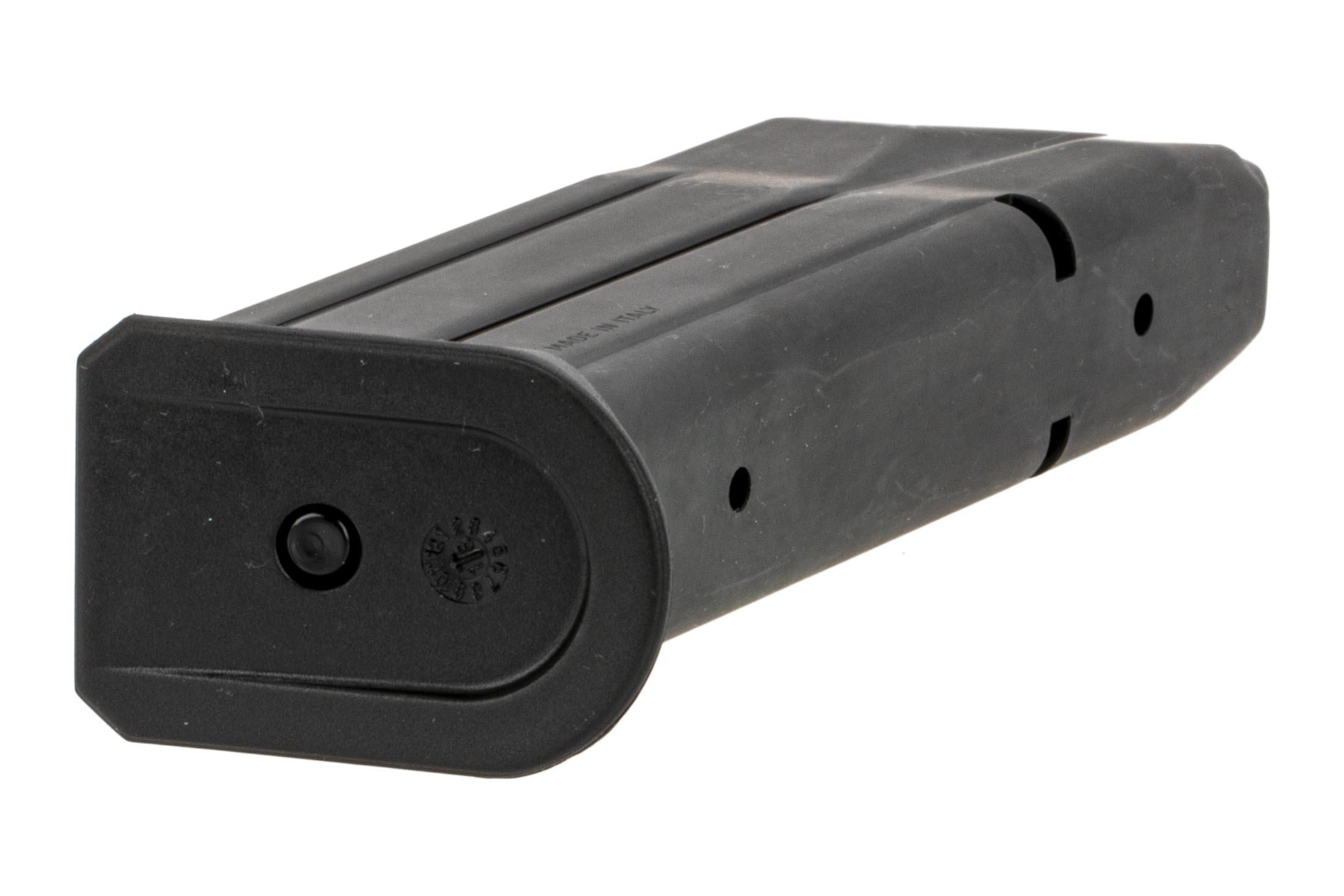 SIG Sauer P229 magazine holds 15-rounds of 9mm Auto ammo with witness holes and easy disassembly.