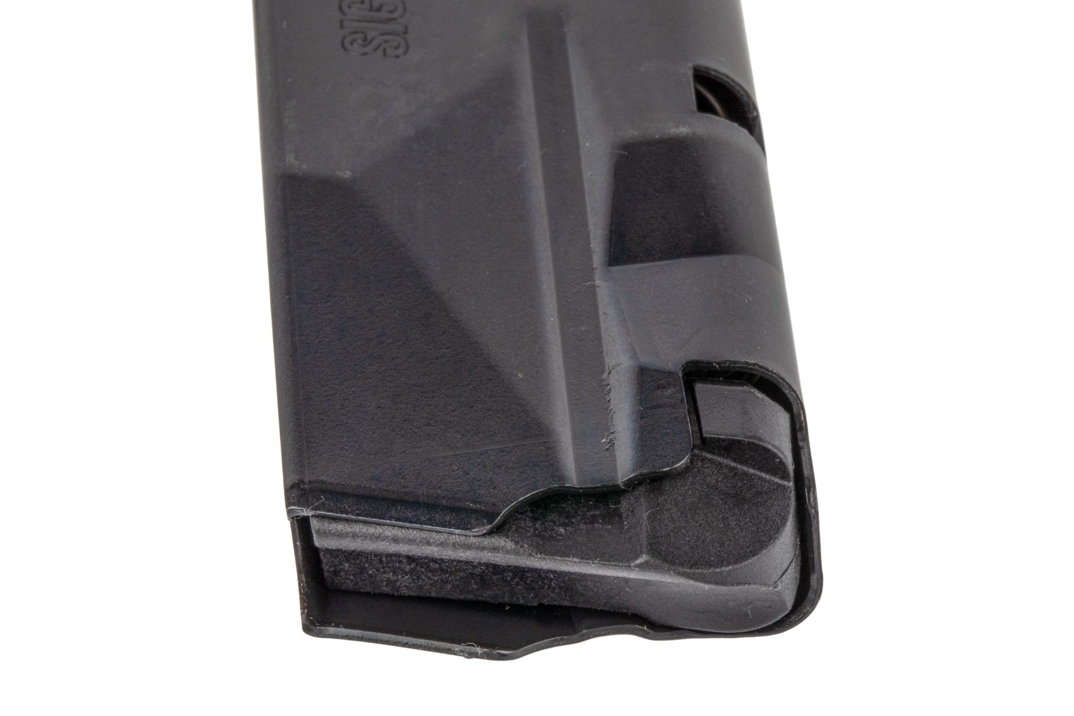 The Sig P365 magazine holds 15 rounds of 9mm ammunition
