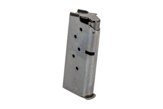 SIG Sauer 9mm P938 magazine is a sturdy steel magazine holds 6 rounds of ammunition with a flush base plate.