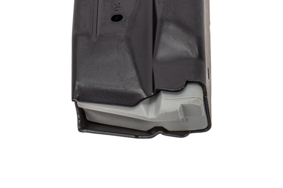 Smith & Wesson full capacity M&P 2.0 9mm 15-round magazine with durable finish and high reliable follower.
