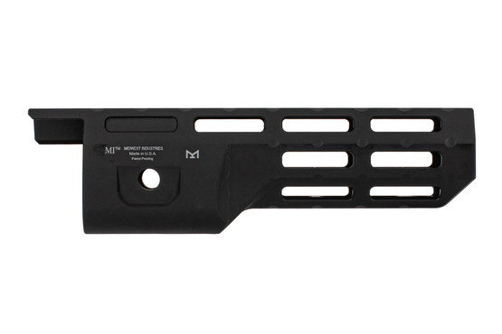 "Midwest industries M-LOK handguard is a fully freefloat 8"" option for Ruger 10/22 takedowns"