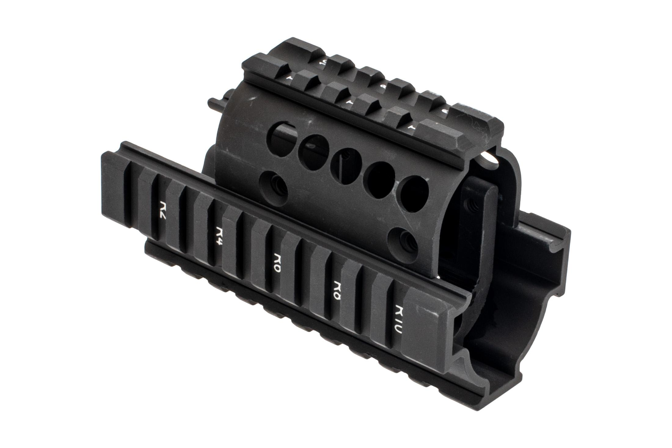 Midwest Industries Mini Draco AK Railed Handguard - Standard Topcover -  Black