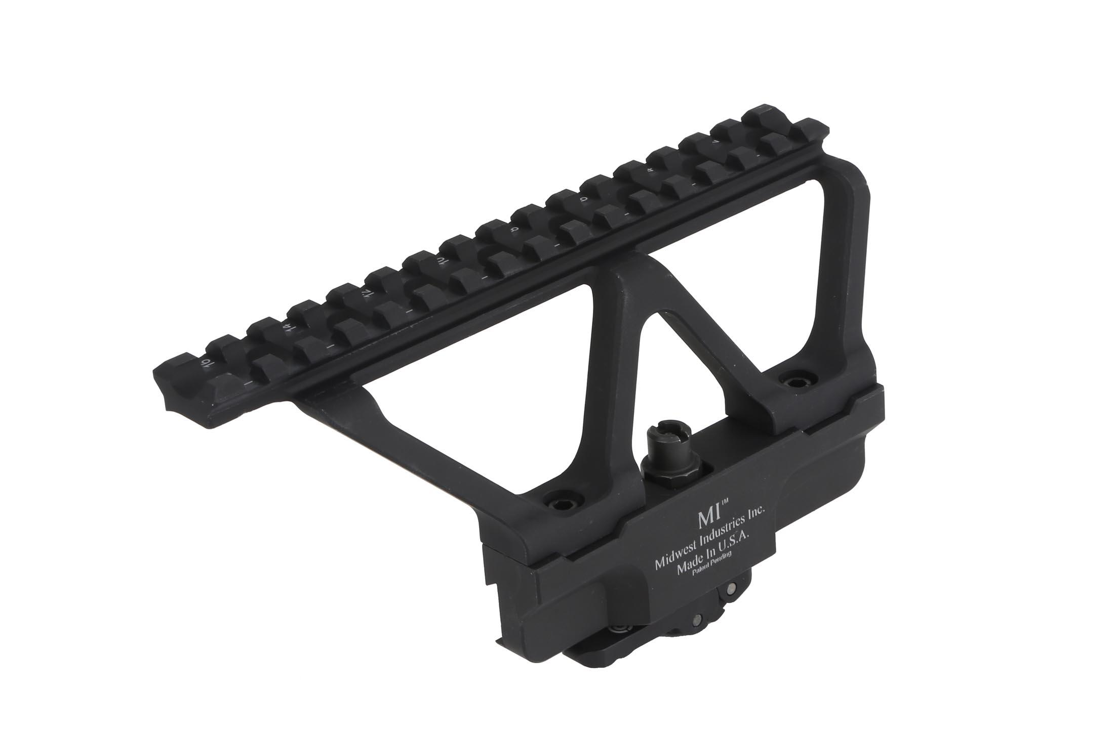 The Midwest Industries AK scope mount attaches directly to the side of your AK47 and has a picatinny rail