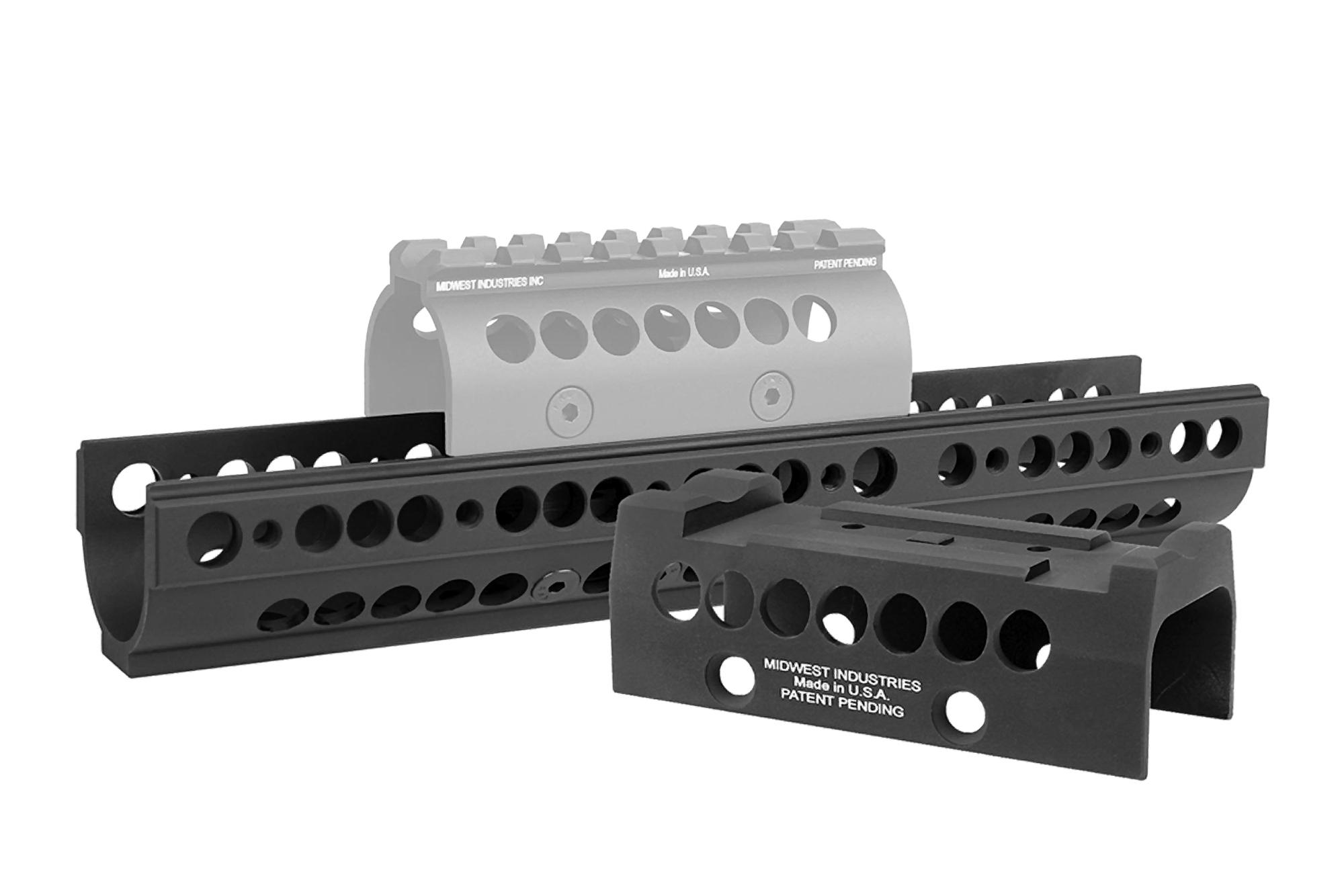 Midwest Industries Gen 1 SS-Extended Universal Handguard - T1/VS Topcover -  Black