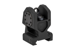 The Midwest Industries Combat Rifle fixed rear sight features an M4 style aperture