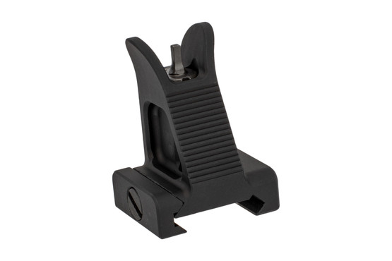 The Midwest Industries Combat Rifle fixed front sight features an A2 style post