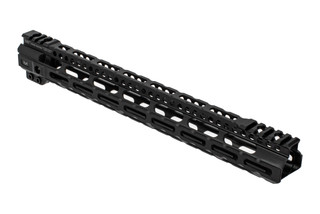 Midwest Industries Lightweight handguard 15 inch features a black hardcoat anodized finish