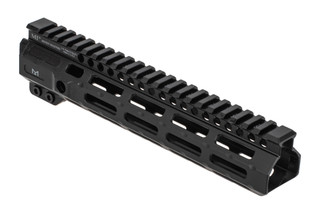Midwest Industries 9.25 combat rail features a black anodized finish
