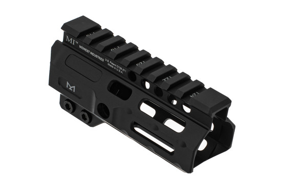 Midwest Industries combat rail M-LOK handguard features a 4.5 inch length