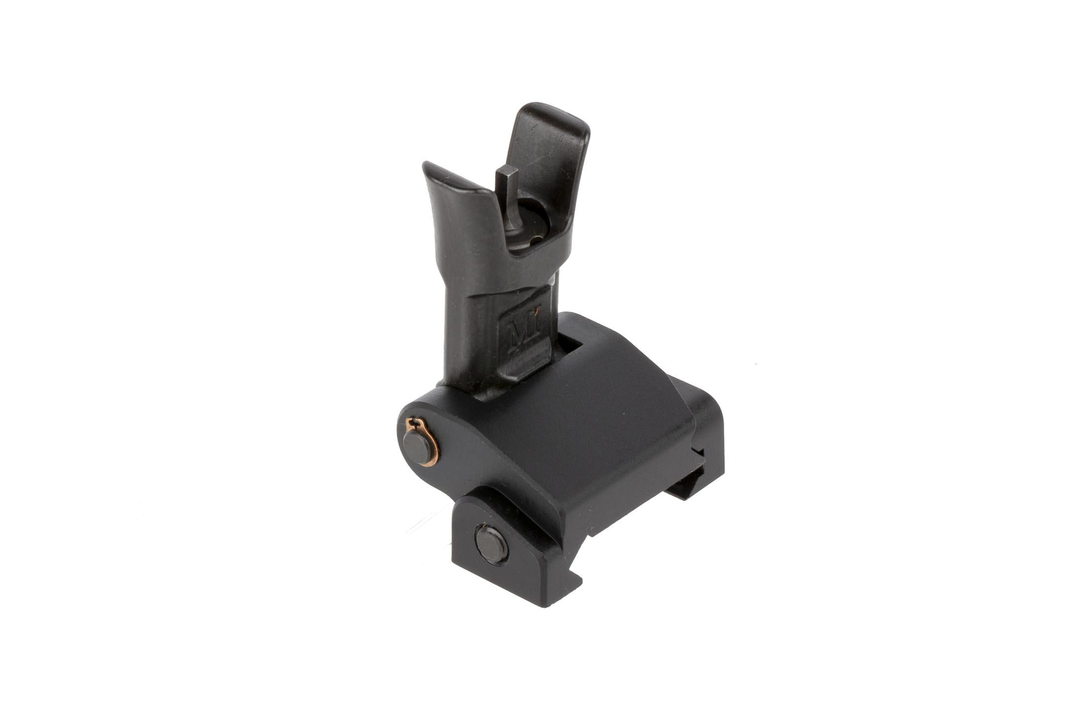 Midwest Industries Combat Rifle Front Sight is a compact folding backup sight for AR-15s machined from lightweight 6061 aluminum