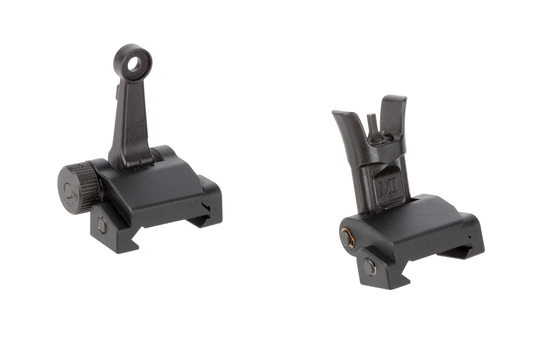 Midwest Industries Combat Rifle Sight Set is a compact folding backup sight set for AR-15s machined from lightweight 6061 aluminum