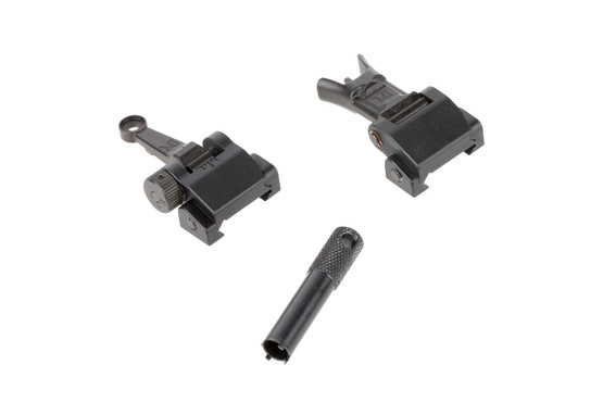 Midwest Industry Combat Rifle AR-15 sight set includes an A2-style sight adjustment tool for the front sight