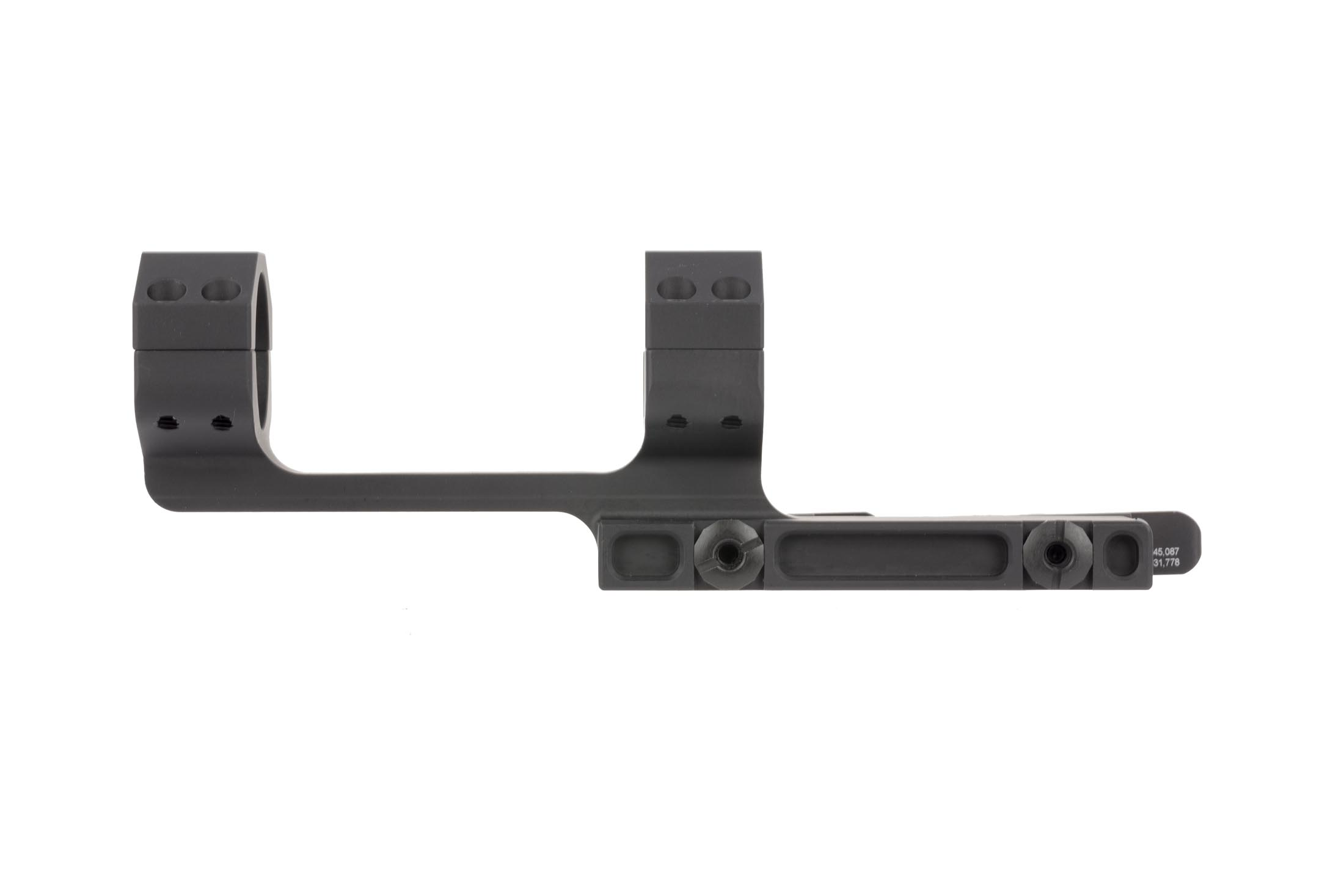 The Midwest Industries QD mount features a hardcoat anodized black finish for additional protection