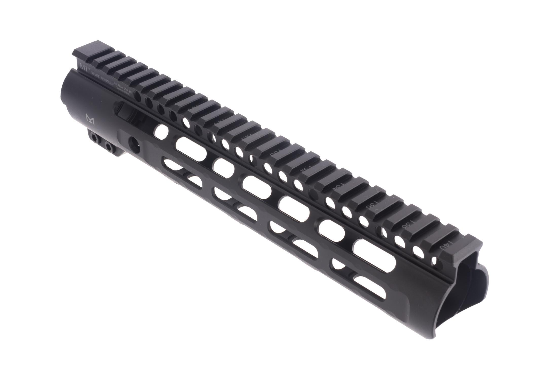 Midwest Industries 10.25in Slim Line free float AR-15 handguard features a tough anodized finish and accepts M-LOK accessories