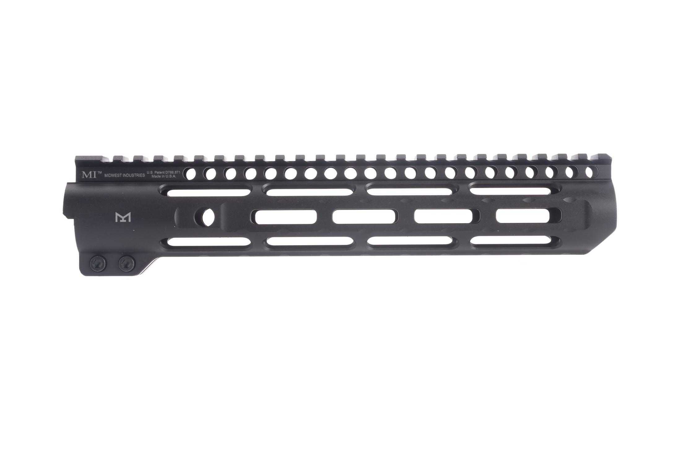 10.25in Midwest Industries slim line AR-15 handguard features M-LOK slots and will cover a Mid-length gas system