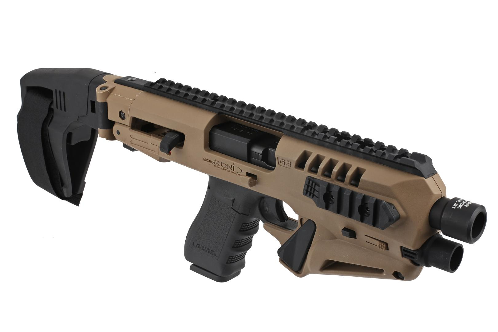 CAA Micro RONI 17 with Stabilizer - for Glock 17,22,31 - Flat Dark Earth