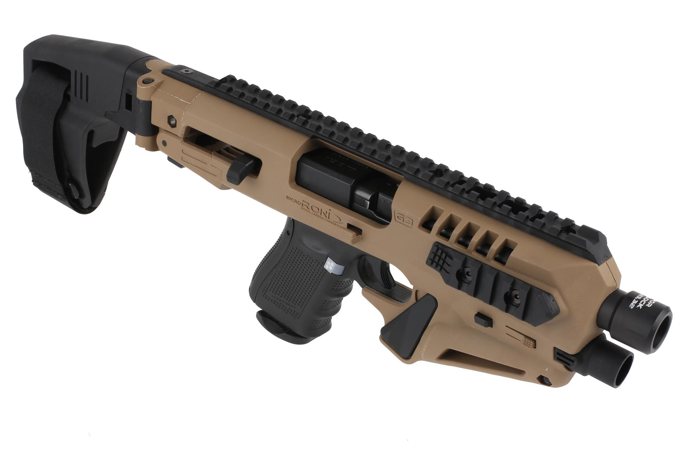 CAA Micro RONI 19 with Stabilizer - for Glock 19,23,32 - Flat Dark Earth